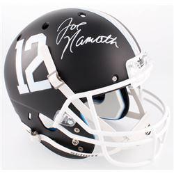 Joe Namath Signed Alabama Crimson Tide Matte Black Full-Size Helmet (Radtke COA)
