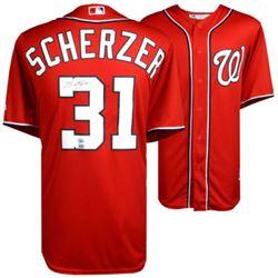 Max Scherzer Signed Nationals Jersey (MLB Hologram  Fanatics Hologram)
