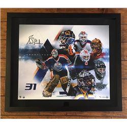 """Grant Fuhr Signed LE """"Evolution"""" 20x24 Custom Framed Photo (UDA COA)"""