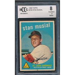 1959 Topps #150 Stan Musial (BCCG 8)