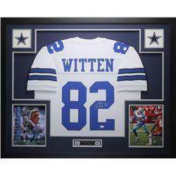 "Jason Witten Signed Cowboys 35"" x 43"" Custom Framed Jersey (JSA COA)"