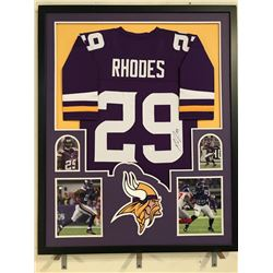 Xavier Rhodes Signed Vikings 34x42 Custom Framed Jersey Display (JSA COA)