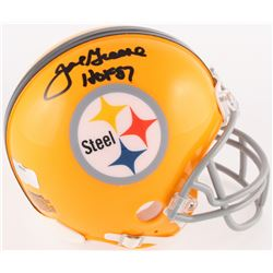 "Joe Greene Signed Steelers Throwback Mini Helmet Inscribed ""HOF 87"" (Radtke COA)"