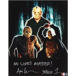 "Ari Lehman Signed Jason Voorhees 11x14 Photo Inscribed ""No Lives Matter!""  ""Jason 1""  (PA COA)"