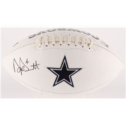 Dak Prescott Signed Cowboys Logo Football (Prescott Hologram)