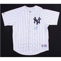 "Wade Boggs  Signed Yankees Jersey Inscribed ""HOF 05"" (Beckett COA  Boggs Hologram)"