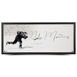 "Mike Modano Signed Stars ""The Show"" 20"" x 46"" Custom Framed Photo (UDA COA)"