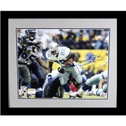 Emmitt Smith Signed Cowboys 23x27 Custom Framed Photo Display (Prova Hologram)