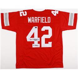 """Paul Warfield Signed Ohio State Buckeyes Jersey Inscribed """"HOF 83""""  """"'61 CHAMPS"""" (Radtke COA)"""