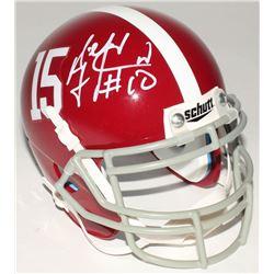 AJ McCarron Signed Alabama Crimson Tide Mini-Helmet (Radtke COA)