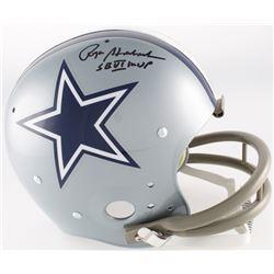 "Roger Staubach Signed Cowboys Full-Size TK Suspention Helmet Inscribed ""SB VI MVP"" (JSA COA)"