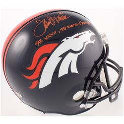 "Terrell Davis Signed Broncos Full-Size Helmet Inscribed ""SB XXXII, SB XXXIII Champs"" (Radtke COA  Da"