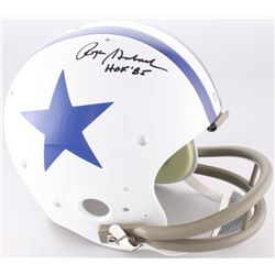 "Roger Staubach Signed Cowboys Throwback Suspension Full-Size Helmet Inscribed ""HOF '85"" (JSA COA)"