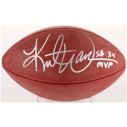 "Kurt Warner Signed Super Bowl XXXIV Authentic Football Inscribed ""SB 34 MVP"" (Radtke COA  Warner Hol"