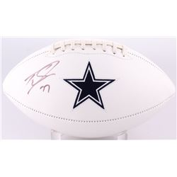 Tyron Smith Signed Cowboys Logo Football (JSA COA)