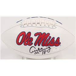 Archie Manning Signed Ole Miss Rebels Logo Football (Radtke Hologram)