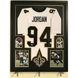 Cameron Jordan Signed Saints 34x42 Custom Framed Jersey (JSA COA)