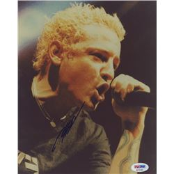 Chester Bennington Signed 8x10 Photo (PSA COA)