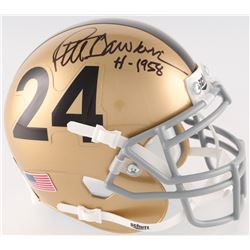 "Pete Dawkins Signed Army Black Knights Mini-Helmet Inscribed ""H-1958"" (Radtke COA)"