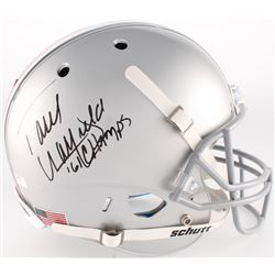"Paul Warfield Signed Ohio State Buckeyes Full Size Helmet Inscribed ""61 Champs"" (Radtke COA)"