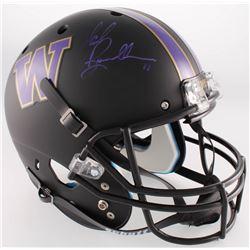 Mark Brunell Signed Washington Huskies Full-Size Custom Matte Black Helmet (Radtke COA)