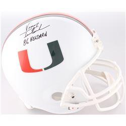 "Vinny Testaverde Signed Miami Hurricanes Full-Size Helmet Inscribed ""86 Heisman"" (Steiner COA)"