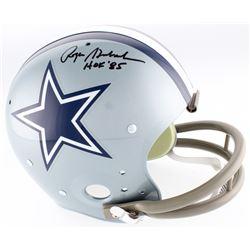 "Roger Staubach Signed Cowboys TK Suspension Full-Size Helmet Inscribed ""HOF '85"" (JSA COA)"