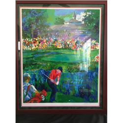 "LeRoy Neiman Signed Tiger Woods ""Valhalla"" 28x35 Custom Framed Artists Proof Serigraph (Knoedler Pub"