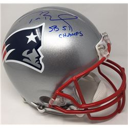 "Tom Brady Signed Patriots Full-Size Authentic On-Field Limited Edition Helmet Inscribed ""SB 51 Champ"