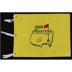 Patrick Reed Signed 2018 Masters Tournament Pin Flag (JSA COA)