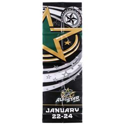 Marty Turco Signed 22x68 2007 NHL All-Star Game Banner (JSA COA)