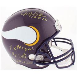Chris Doleman Signed Vikings Full-Size Throwback Helmet with (4) Career Stat Inscriptions (Radtke CO