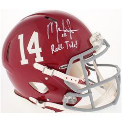 """Mark Ingram Signed Alabama Crimson Tide Full-Size Authentic Speed Helmet Inscribed """"Roll Tide!"""" (UDA"""