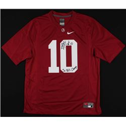 "AJ McCarron Signed Alabama Crimson Tide Jersey Inscribed ""3x BCS Champ"" (McCarron Hologram  Radtke C"