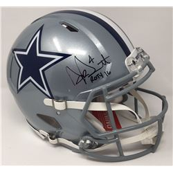 "Dak Prescott Signed Cowboys Limited Edition Full-Size Authentic On-Field Helmet Inscribed ""ROTY 16"""