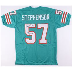 """Dwight Stephenson Signed Dolphins Jersey Inscribed """"1980s AFL All Decade Team"""" (SGC COA)"""
