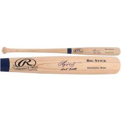 "Chipper Jones Signed Rawlings Adirondack Big Stick Pro Model Baseball Bat Inscribed ""HOF 2018"" (Fana"