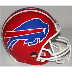 "Jim Kelly Signed Limited Edition Bills Throwback Full-Size Authentic On-Field Helmet Inscribed ""HOF"