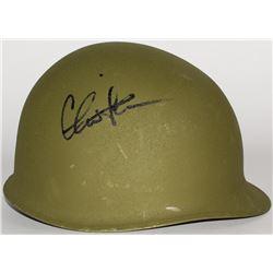 "Charlie Sheen Signed ""Platoon"" Vietnam Era Authentic Army Helmet (PSA COA)"
