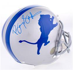 Barry Sanders Signed Lions Throwback Full-Size Helmet (Schwartz Hologram)