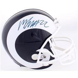 Marcus Peters Signed Rams Full-Size Helmet (JSA COA)