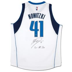 "Dirk Nowitzki Signed Mavericks Limited Edition Adidas Jersey Inscribed ""13x All-Star"" (UDA COA)"