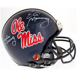 Eli Manning  Archie Manning Signed Ole Miss Rebels Full-Size Authentic On-Field Helmet (Radtke COA)