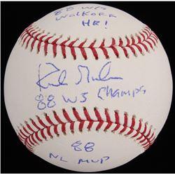 """Kirk Gibson Signed OML Baseball Inscribed """"88 W/S Walkoff HR!"""", """"88 WS Champs""""  """"88 NL MVP"""" (Radtke"""
