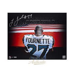 "Leonard Fournette Signed Jaguars ""Stars  Stripes"" 16x20 Limited Edition Photo (Panini COA)"
