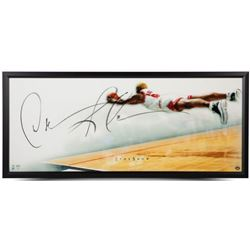 Dennis Rodman Signed Bulls 20x46 Custom Framed Photo (UDA COA)