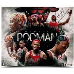 "Dennis Rodman Signed Bulls ""The Hair Makes The Man"" 16x20 Photo (UDA COA)"