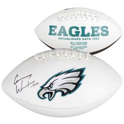 "Carson Wentz Signed Eagles Logo Football Inscribed ""AO1"" (Fanatics Hologram)"