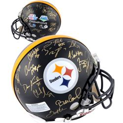 Steelers Super Bowl Champions Full-Size Authentic On-Field Helmet Team-Signed by (28) with Ben Roeth