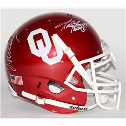 DeMarco Murray  Adrian Peterson Signed Oklahoma Sooners Full-Size Authentic Pro-Line Helmet (Radtke